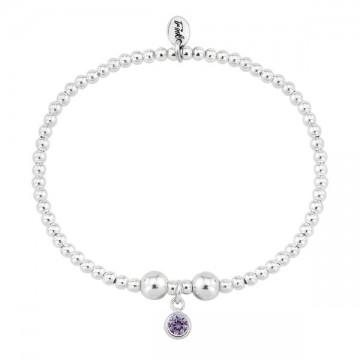 Birthstone Bracelet - February (Amethyst)