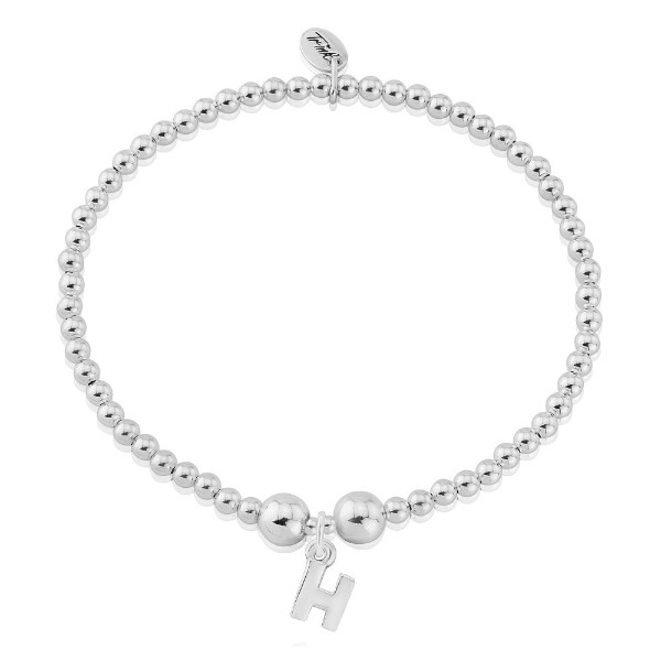 Letter Charm Bracelets: H Letter Charm Bracelet