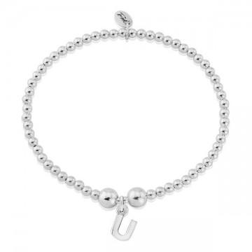 U Letter Charm Bracelet