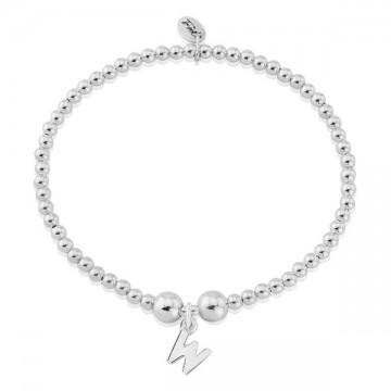 W Letter Charm Bracelet
