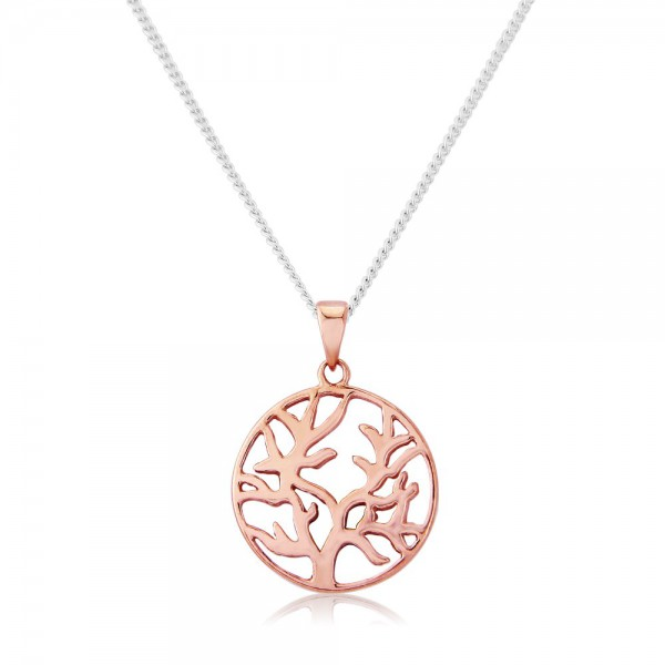 Tree of Life 9ct Rose GoldPlated Necklace