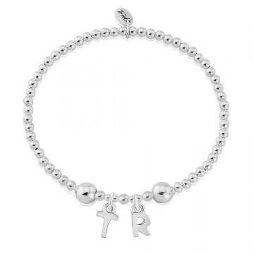 Two Letter Charm Bracelet